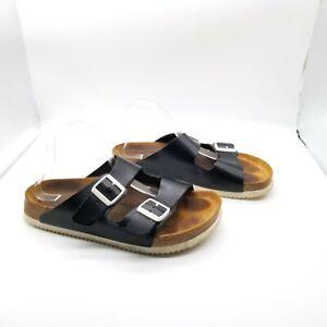 Birkenstock Mens Black Birko Adjustable Strap Slip On Slide Sandals Size 11