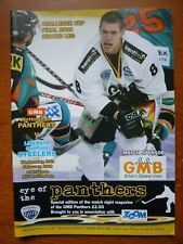 New listing Nottingham Panthers v Sheffield Steelers programme (Challenge Cup Final 2008)