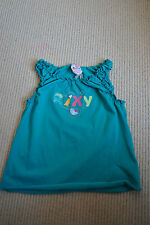 BNWT Girls Roxy  Strappy Summer Top Vest 4-5 TEENIE WAHINE Green Turquoise Teal