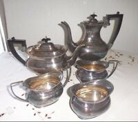 1920 -1930 CHELTENHAM SHEFFIELD DECO TEA AND COFFEE SERVICE 5 PC SET