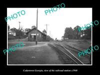 OLD 8x6 HISTORIC PHOTO OF CEDARTOWN GEORGIA THE RAILROAD STATION c1940