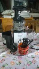 H.Koenig GSX12 Estrattore di Succo a Freddo, 60 giri/min, Acciaio Inox