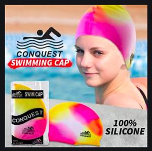 Unisex Anti Fog Swimming Cap Hat Swim Waterproof For Men Women Adult Junior Kids