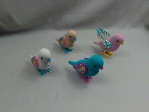 Little Live Pets Birds White + Blue Birds Interactive Talking Figure Lot of 4