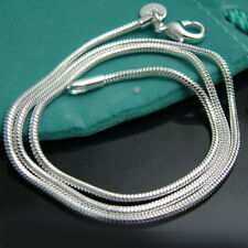 """5PCS 925Sterling Silver Solid Silver Vivid Snake Chains Chains Necklace 3MM 20"""""""