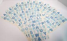 """Mrs Grossman Sticker Sheet Lot 14 Sheets Vellum Collection Blue ABC  6"""" x 13"""""""