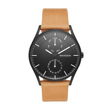 "Skagen SKW6265 ""HOLST"" Black-Dial Day and Date Display Leather-strap Watch"