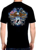 Mens Patriotic All Gave Some, Some Gave All POW-MIA Biker Tee Shirt