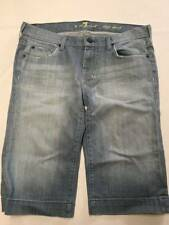 Womens 7 FOR ALL MANKIND Blue Bermuda Denim Dojo Shorts Sz 30