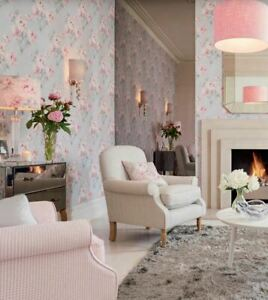 Laura Ashley Beatrice Cyclamen Pink Wallpaper (Same Batch) * FREE DELIVERY *
