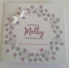 Personalised Baby Girl Remembrance Card, Sympathy Card, Loss Of Baby, Child