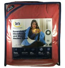 "Serta Reversible Microfleece & Sherpa Heated Throw Blanket - 50""x 60"" Red Pepper"
