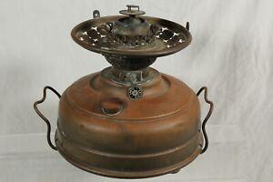 Vintage Veritas German Oil Lamp Church Heater Paraffin Base Brass Early RARE