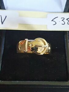 9ct Yellow Gold Buckle Ring 5.3g size V