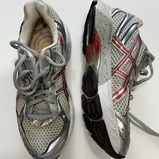 Asics Women's GT-2150 Gel-IGS Running Shoes Gray w Pink EUC! Size 5 1/2