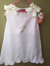 Girls Boutique Ginger Hares Cross Easter 4 4T Dress NEW NWT Light Pink Cotton