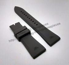 Comp. Emporio Armani AR4238 AR5949 AR0336  - 24mm Gray Rubber Watch Band / Strap