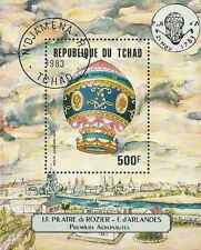 Timbre Ballons Tchad BF36 o lot 12051