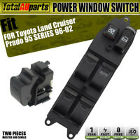 2x Power Window Switches for Toyota Landcruier Prado 95 Series Front Right&Left