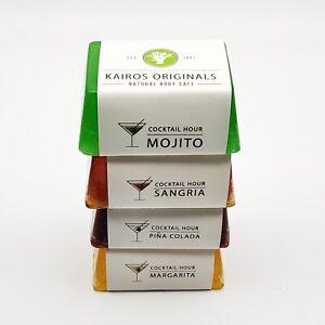 4 summer soaps - Mojito, Sangria, Pina Colada, Margarita - Handmade Vegan