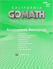 Grade 8 Go Math California Middle School Assessment Resources with Answers 8th
