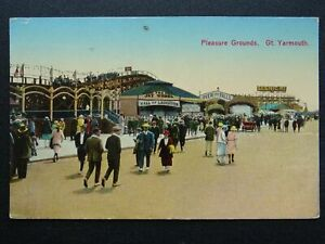 Norfolk GREAT YARMOUTH Pleasure Ground THE JOY WHEEL c1920s Postcard