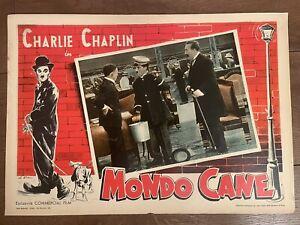 Fotobusta 35x50 MONDO CANE Charlie Chaplin Rara Italian
