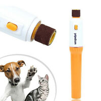 Pet Dog Cat Nail Grinder Trimmer Clipper Electric Nail File Kit Scissors Tool RG