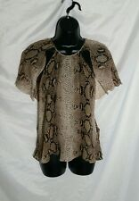 "Rare Size XS ZARA WOMAN Snake Print Layered Blouse ""Wing"" like Sleeves"