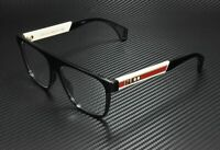 GUCCI GG0465O 001 Rectangular Square Black Demo Lens 55 mm Men's Eyeglasses