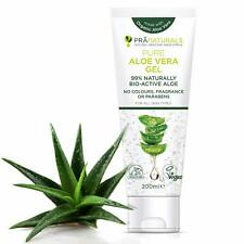 PraNaturals Gel Aloe Vera Bio Pur Bioactif 200 ml Visage Corps Cheveux Peau Acné