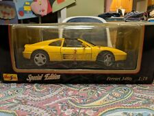 Maisto Special Edition Yellow Ferrari 348ts 1:18 (1990) NEW