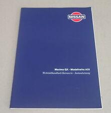 Werkstatthandbuch Nissan Maxima QX A32 Karosserie Stand 2000