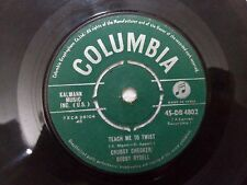 "BOBBY RYDELL CHUBBY CHECKER 45 DB 4802 RARE SINGLE 7"" INDIA INDIAN 45 rpm VG+"