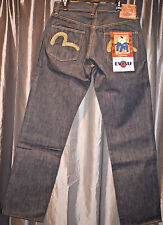 EVISU MILLENIUM NATURAL SPECIAL Jeans 34/35 22K Gold Thread NEW #1