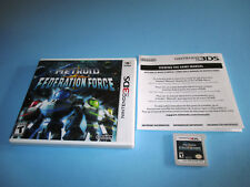 Metroid Prime: Federation Force Nintendo 3DS XL 2DS Game w/Case & Insert