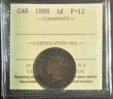 1888 Canada  1 Cent - ICCS Certified F-12  #36229