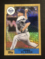 Jose De Leon 2017 Topps Silver Pack Retro Rookie Refractor #87-JDL  TB Rays RC