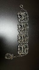 """vtg miracle signed dragon bracelet made in england oriental theme rare 8"""""""