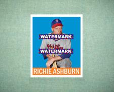 Richie Ashburn Philadelphia Phillies 1948 Style Custom Made Baseball Art Card
