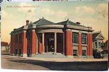 WATSONVILLE, CALIFORNIA, Post Card 1905-15 Library, SANTA CRUZ COUNTY