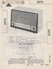 1959 DELMONICO 7XF3 RADIO SERVICE MANUAL PHOTOFACT SCHEMATIC DIAGRAM REPAIR FIX