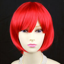 Wiwigs New Watch Out Cosplay Fire Red Bob Style Ladies Wigs UK