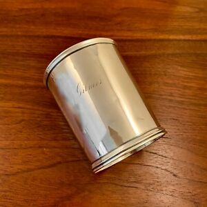 EARLY WILLIAM GALE & SON COIN SILVER BEAKER / JULEP CUP - NEW YORK CITY MID 1800