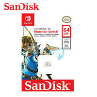 SanDisk 64GB microSDXC Card UHS-I U3 100MB/s for Nintendo SWITCH SDSQXAT-064G