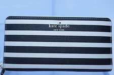 New Kate Spade Lacey Fairmount Square Wallet Zip Black Clutch Bag