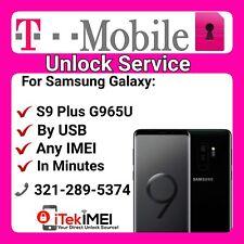 Instant T-Mobile APP UNLOCK GALAXY S9 Plus G965U FACTORY UNLOCK ☆DONE REMOTELY☆