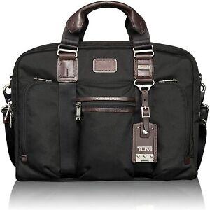 Tumi Alpha Bravo Mcnair Slim Brief / Messenger Bag Black