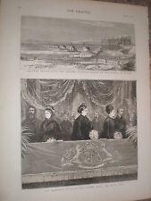 Railway bridge of the Chenab in the Punjab India 1876 old print ref V