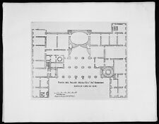 1665 De Rossi Original Antique Architectural Plan Barberini Palace, Rome Italy
